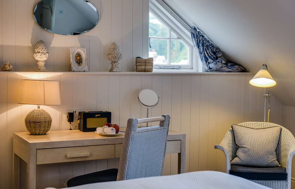 village hideaway room at The Idle Rocks Hotel, St Mawes