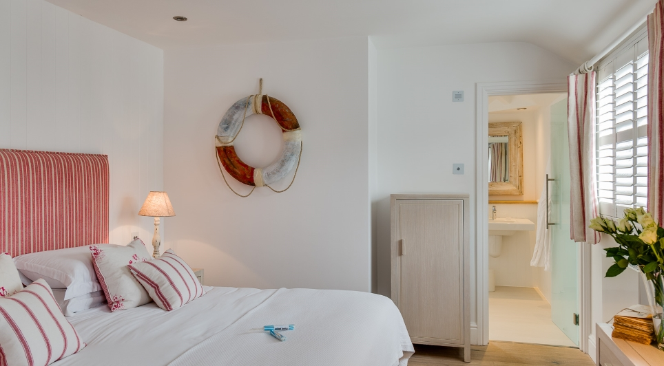view of the village hideaway room at The Idle Rocks Hotel, St Mawes