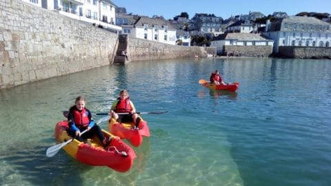 Kayaking in St Mawes