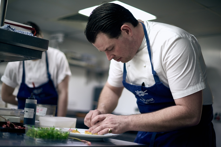 chef guy owen at the Idle Rocks Hotel