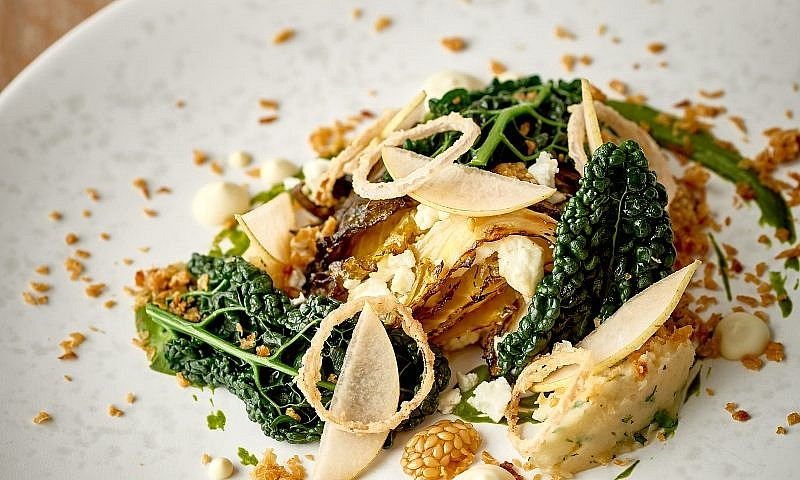 Dinner Menu - Fine Dining in St Mawes - Heligans Garden King January Cabbage