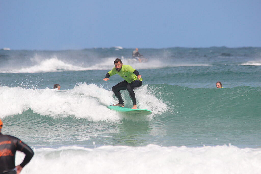 Surfing In Newquay, Cornwall with Escape Surf School
