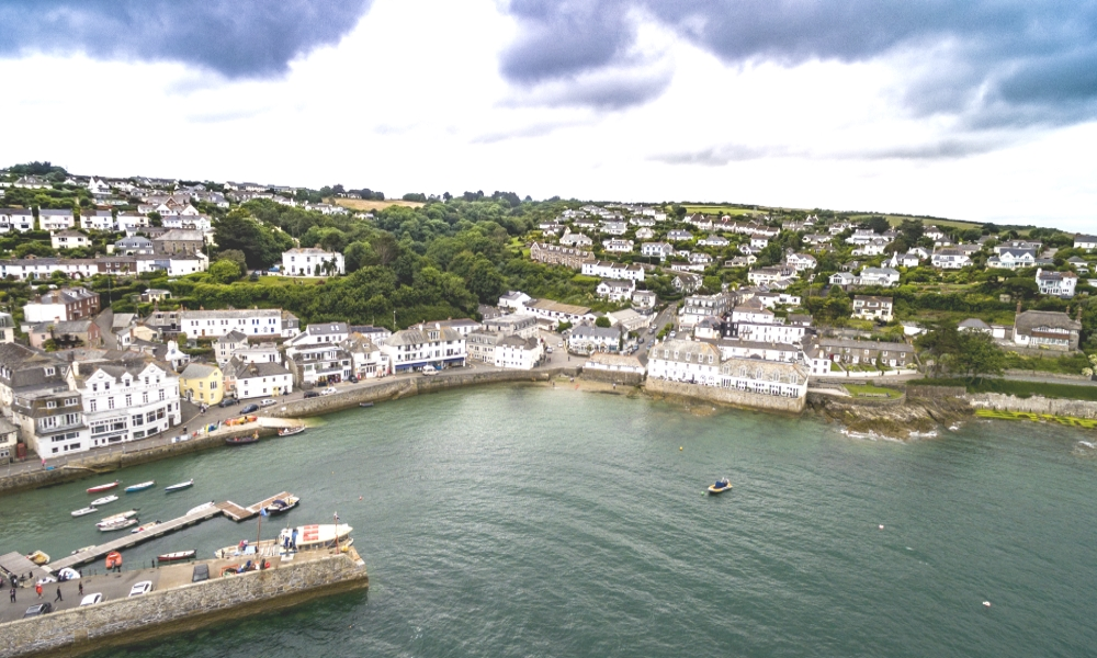 aerial view of The Idle Rocks Hotel in St Mawes