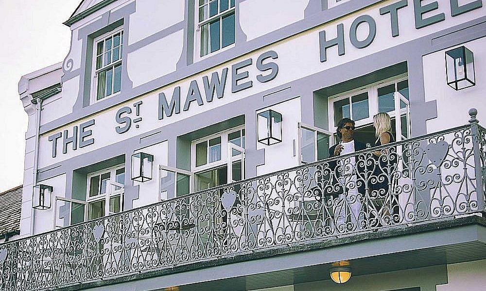 St Mawes Hotel balcony