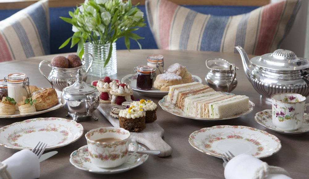 Afternoon tea at The Idle Rocks with sandwiches and cakes