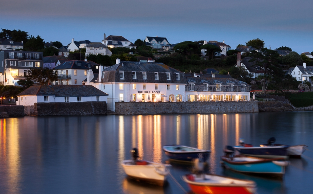 a view of the The Idle Rocks Hotel, St Mawes
