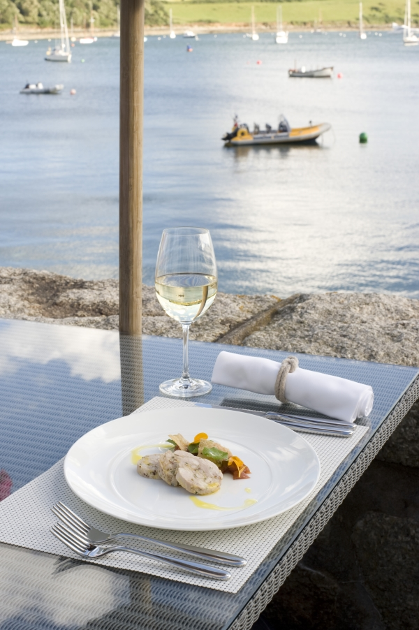 Waterside Dining in St Mawes, on the Roseland Peninsula, Cornwall
