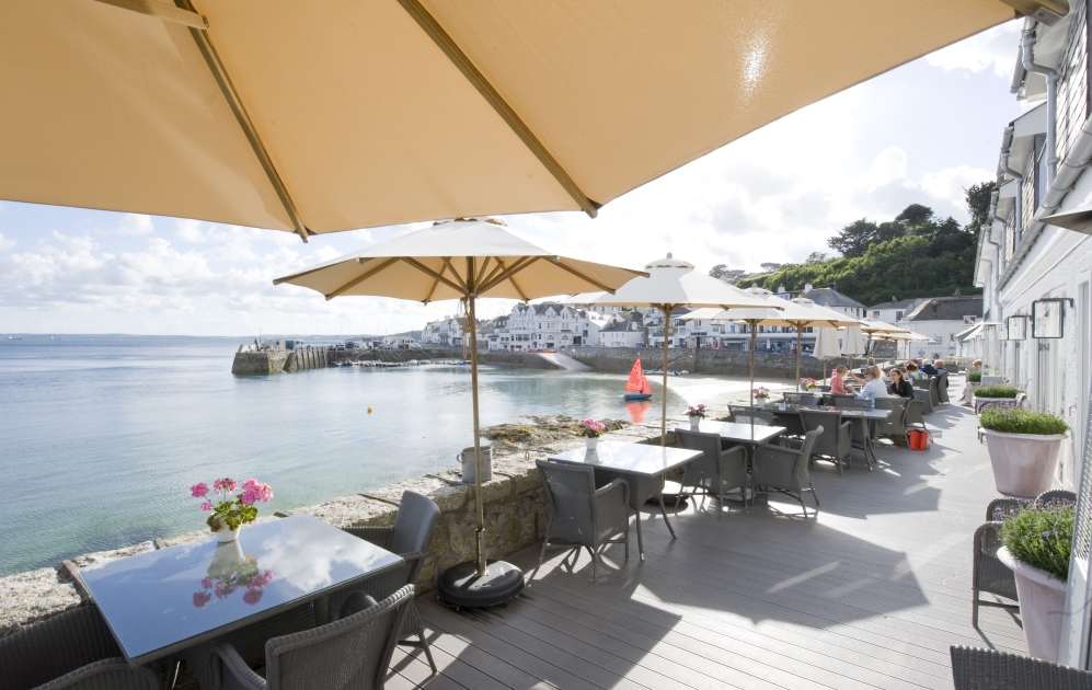 Dining in St Mawes, on the Roseland Peninsula, Cornwall