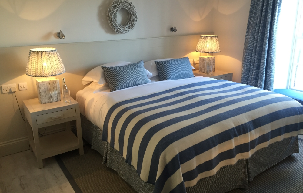 view of comfy bed at St Mawes Hotel