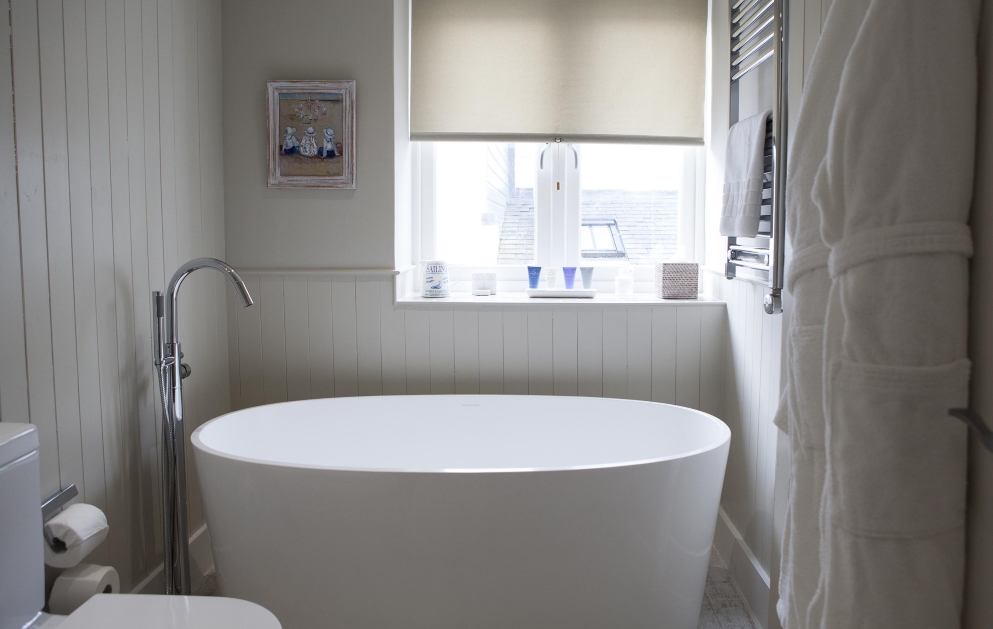 view of freestanding bath at St Mawes Hotel