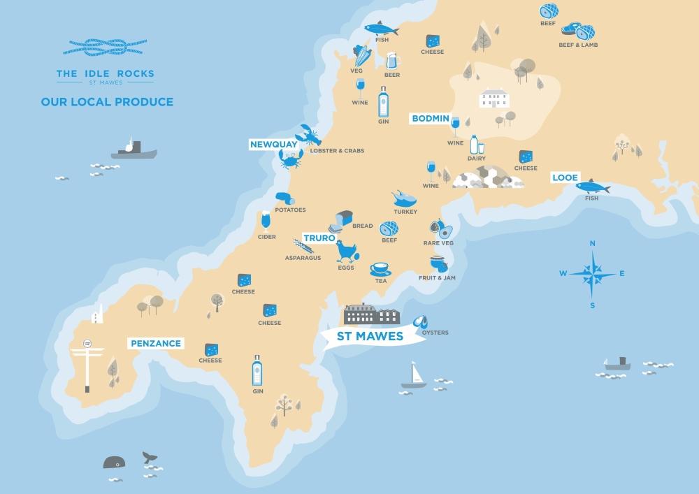 The Idle Rocks Food Map