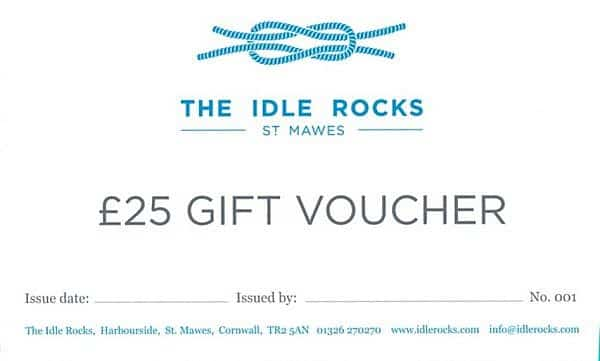 25 Gift Voucher for The Idle Rocks