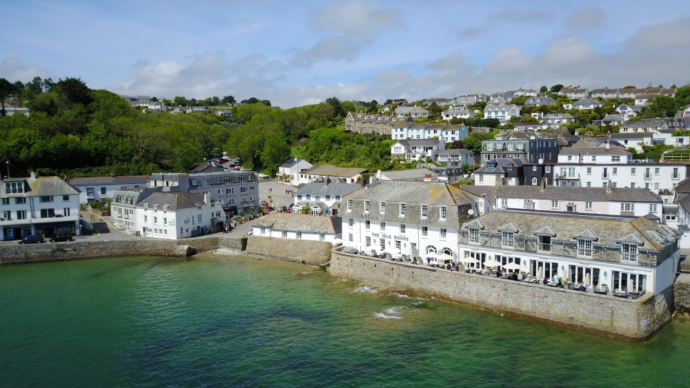 View of The Idle Rocks, Luxury Boutique Seaside Hotel in St Mawes Cornwall