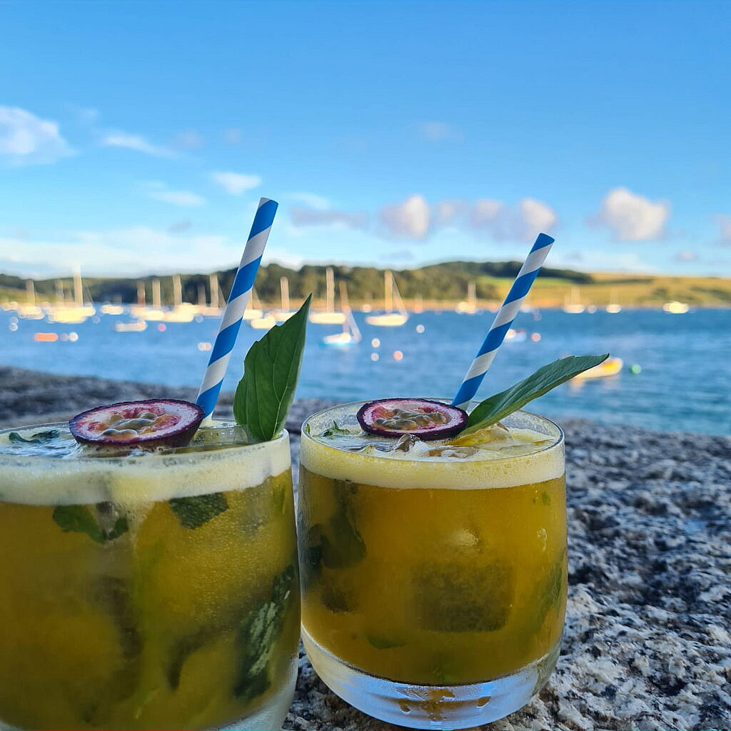 Drinks and Cocktails, at The Idle Rocks, St Mawes, Cornwall