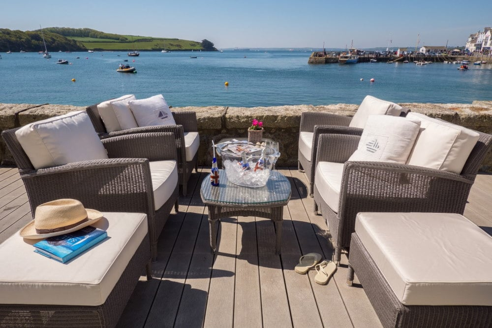 The Waterside Terrace at The Idle Rocks, St Mawes